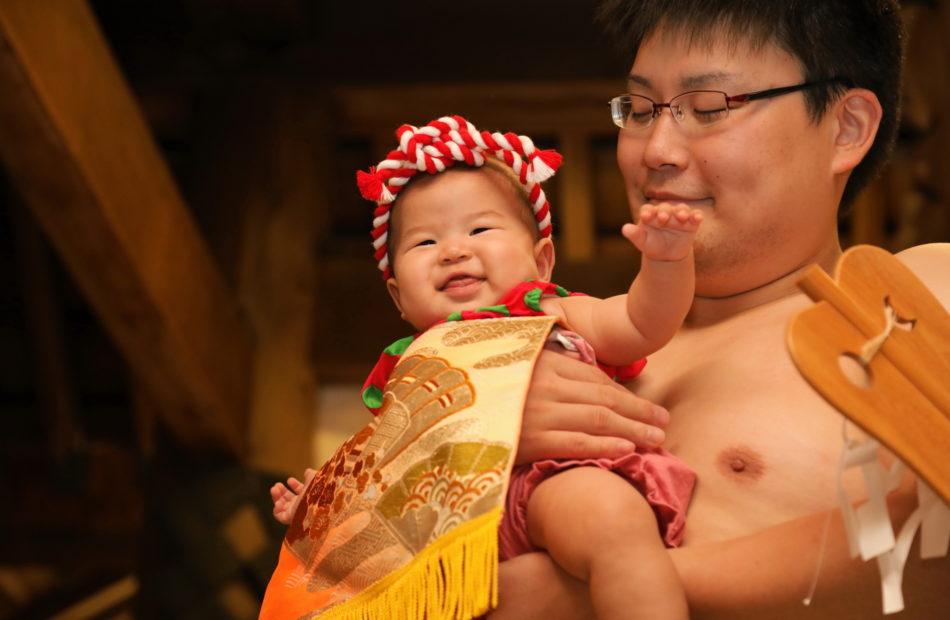 【朝乃山に続け!!】越中 赤ちゃん泣き笑い相撲