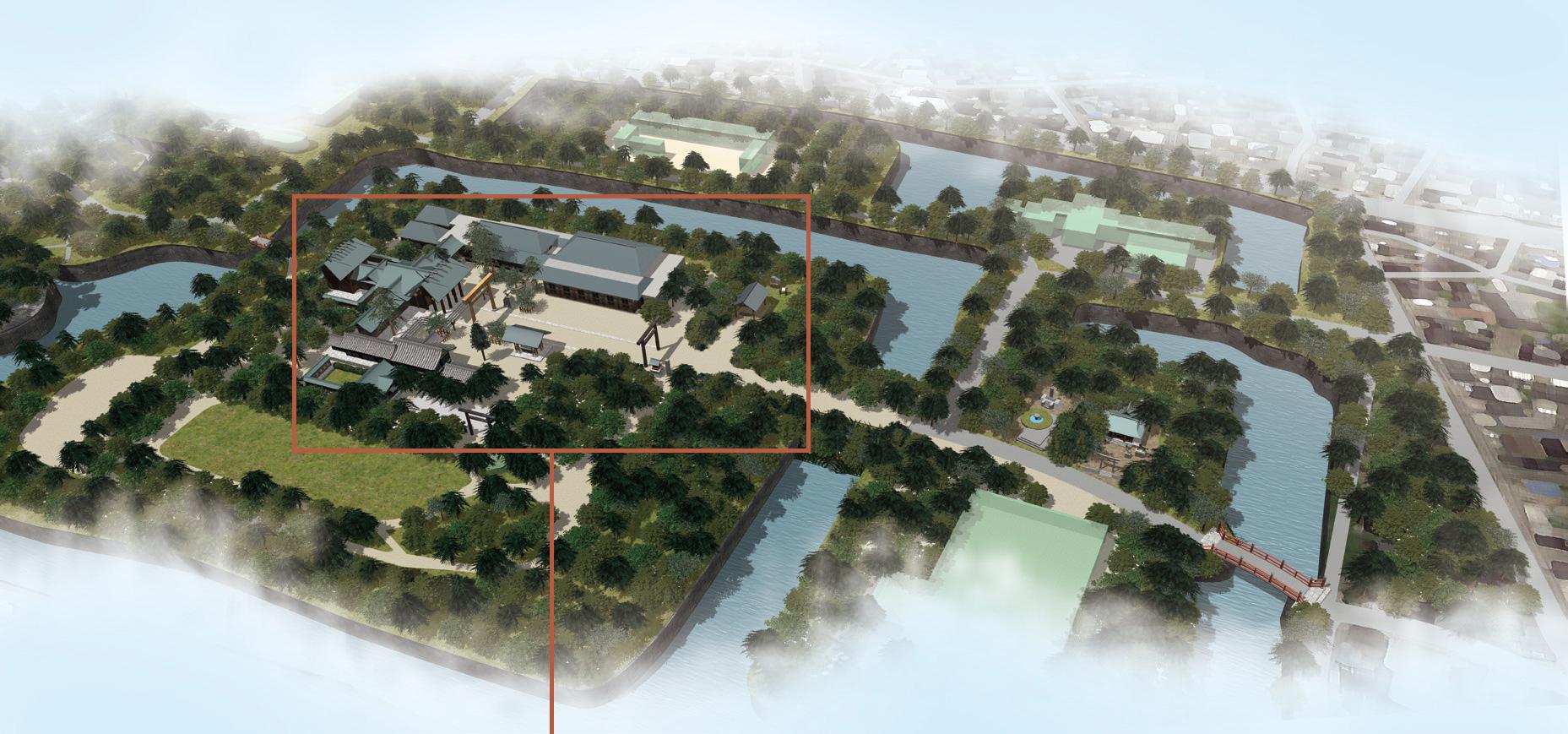 射水神社の俯瞰図